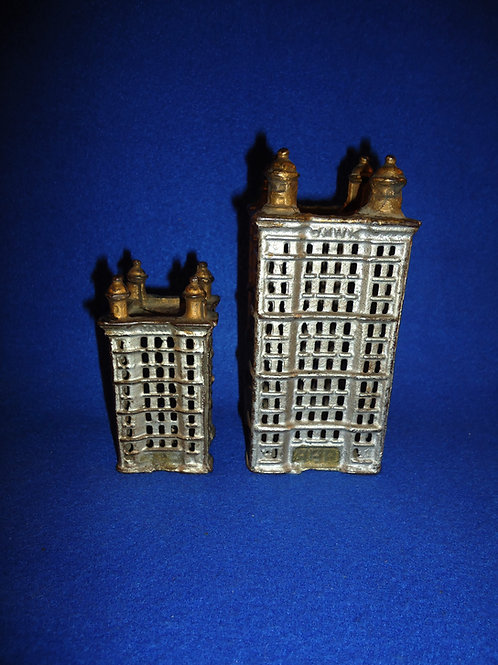 Pair of Cast Iron Skyscraper Banks by A. C. Williams #4557