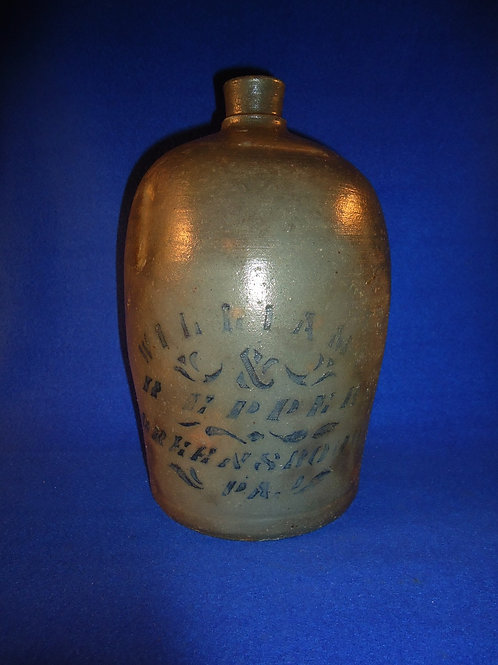 Williams and Reppert, Greensboro, Pennsylvania Stoneware 1 Gallon Jug