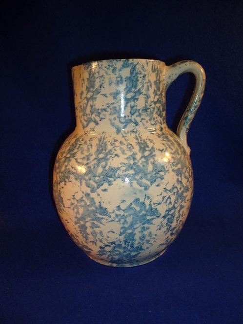 1 Gallon Stoneware Spongeware Pitcher by Uhl of Hintingburg, Indiana