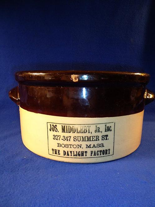 Joseph Middleby, Boston, Massachusetts Stoneware 2 Gallon Butter Crock