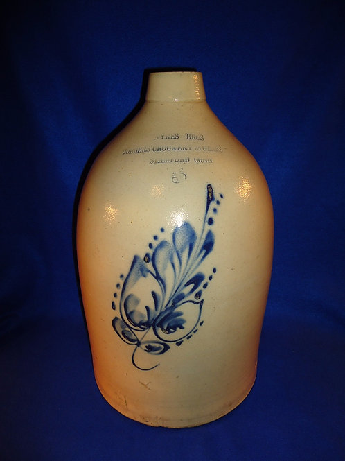 Ayres Brothers, Stamford, Connecticut Stoneware 5g Jug by Norton of Bennington