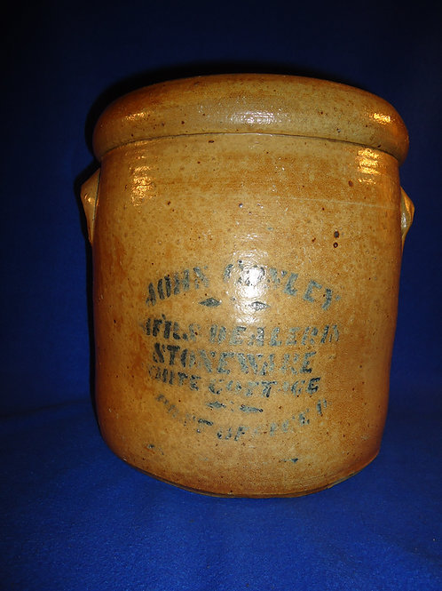 John Conley, White Cottage, Ohio Stoneware 3 Gallon Crock