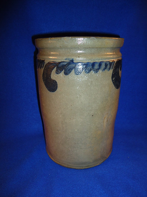 S. Bell & Son, Strasburg, Virginia Stoneware 1 1/2 Gallon Jar with Comma Vining
