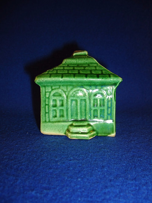 Yellow Ware House Bank in Green Glaze