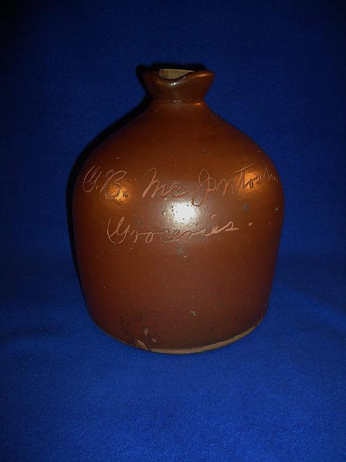 G. B. McIntosh, Groceries, Stoneware Molasses Scratch Jug