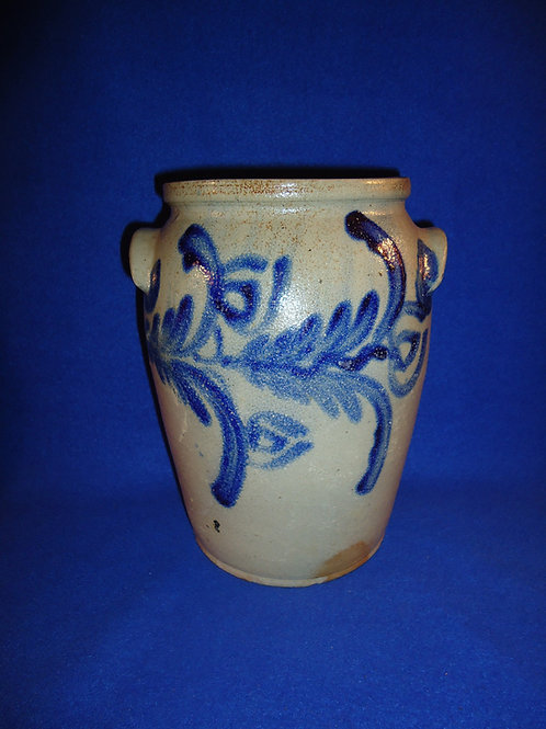 Circa 1830 1 Gallon Stoneware Jar from Baltimore, Maryland