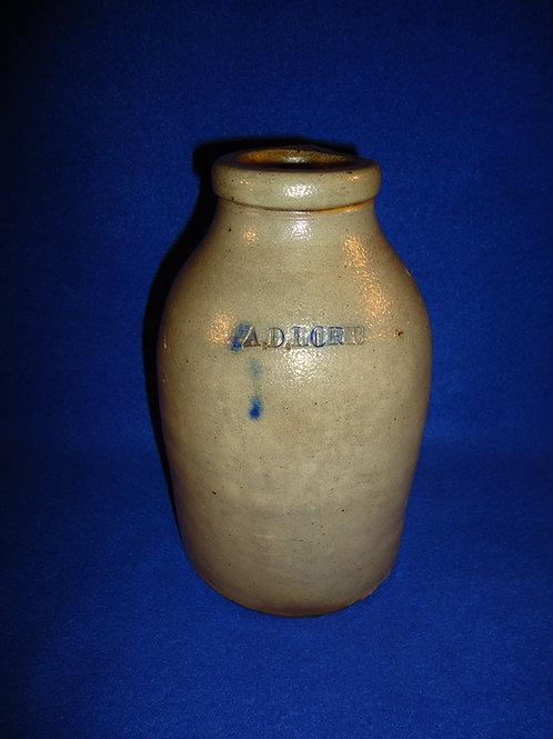 A. D. Horr, Providence, Rhode Island, Salt Glaze Stoneware Oyster Jar