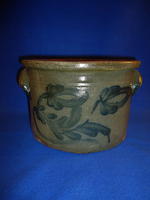 Circa 1870 2 Gallon Stoneware Butter or Cake Crock from Beaver County, PA #4688