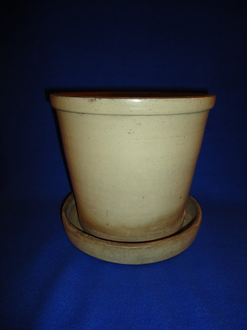 1 1/2 Gallon Stoneware Salt Glaze Flower Pot