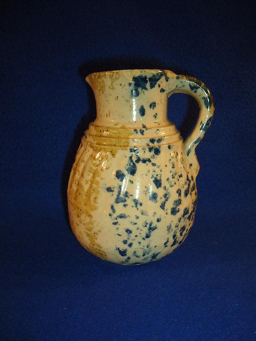 Multi-Colored Spongeware Stoneware Syrup Jug att. F. H. Weeks of Akron, Ohio