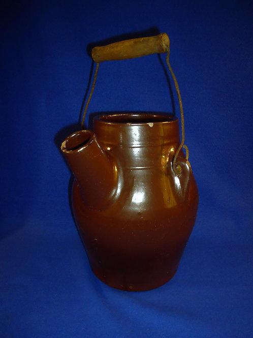 West Troy Pottery 6 Quart Batter Jug with Bail Handle, #4888