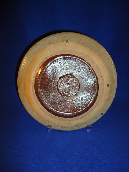 "Circa 1880 10"" Stoneware Lid"