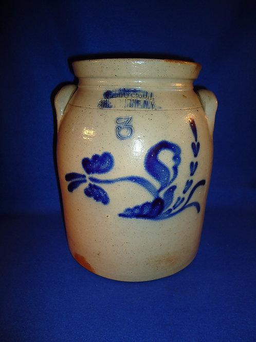 C. Hart, Sherburne, New York Stoneware 3g Preserve Jar