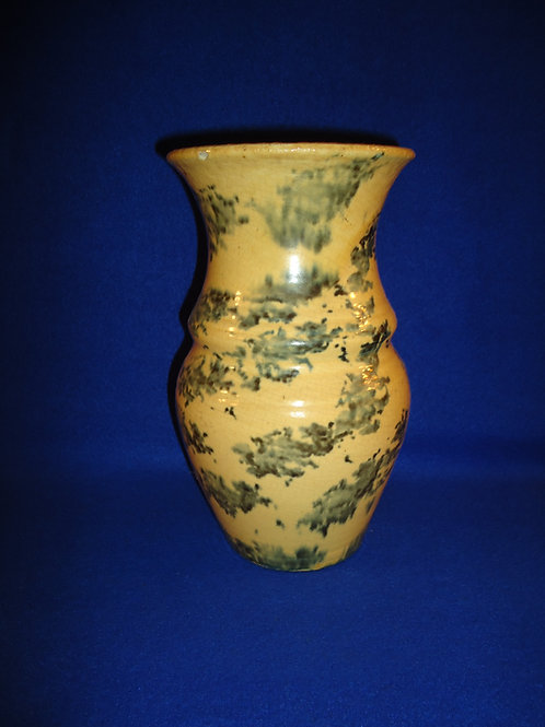 Early 20th Century Southern Stoneware Spongeware Vase, #4660