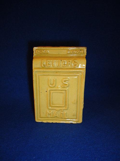 Yellow Ware U.S. Mail Bank