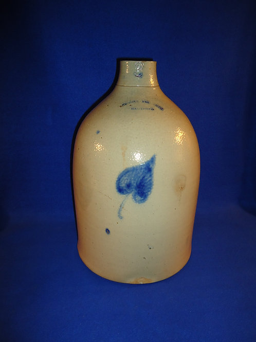 Seymour & Bosworth, Hartford, CT Jug with Aspen Leaf, #4805