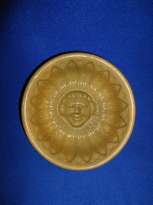 Rare Yellow Ware Food Mold of a LIttle Girl's Face #5065