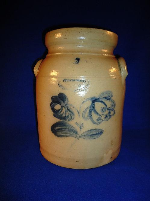 W. A. Macquoid, Manhattan, New York Stoneware Preserve Jar with Flowers