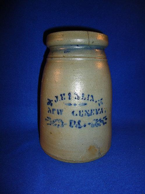 J. E. Eneix, New Geneva, Pennsylvania Stoneware Wax Sealer
