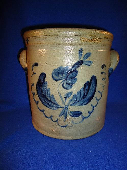 Ingell, Taunton, Massachusetts Stoneware 2 Gallon Crock with Tulip