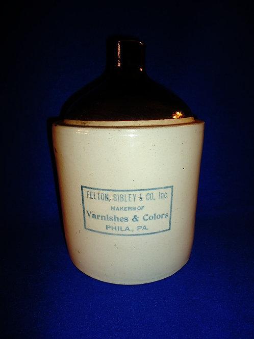 Felton and Sibley, Varnishes & Colors, Philadelphia, Pennsylvania Stoneware Jug