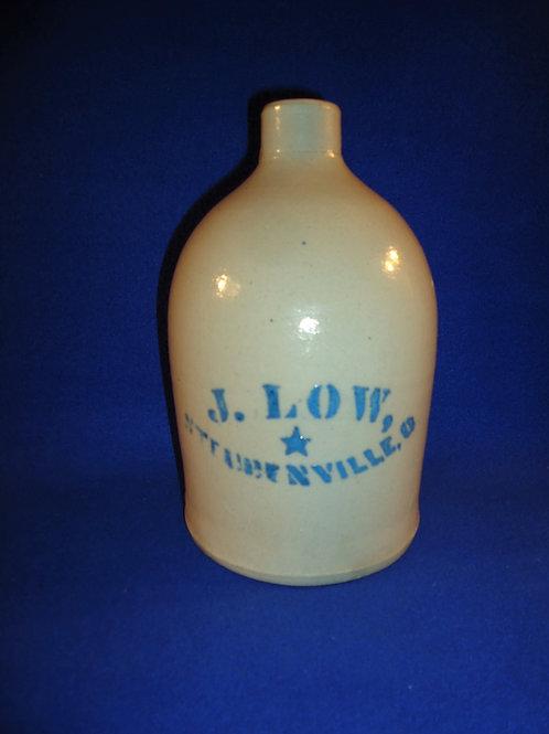 Joshua Low, Steubenville, Ohio Stoneware 1/2 Gallon Jug with Star