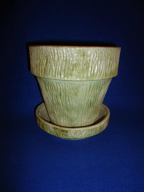 Houghton Pottery, Dalton, Ohio Stoneware Flower Pot, #5031