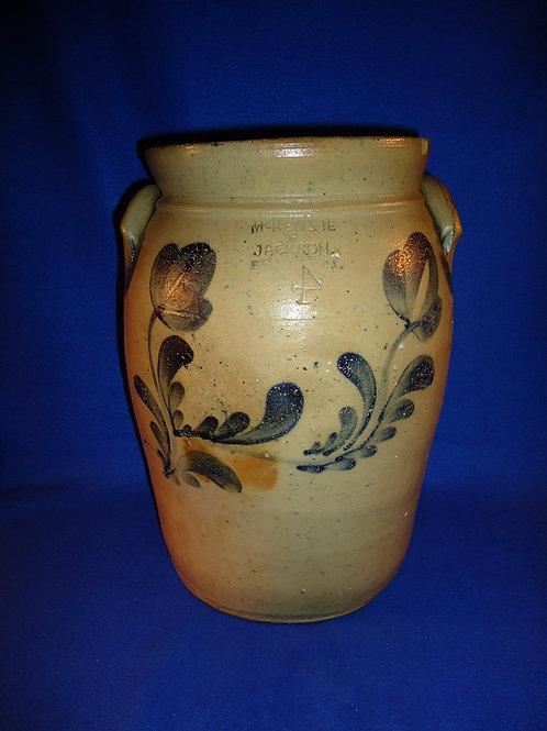 McKenzie & Jackson, Beaver, PA Stoneware 4g Jar with Tulips