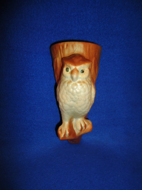 """""""Wise Bird"""" Wall Pocket from Brush Pottery, Roseville, Ohio #5005"""