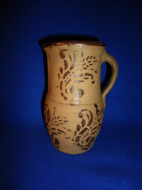 "7 1/8"" Tanware Pitcher from New Geneva, Pennsylvania"