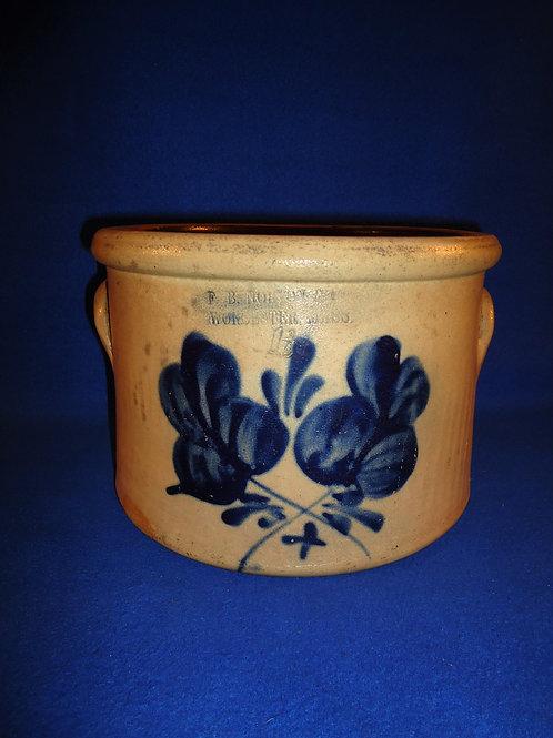 F. B. Norton, Worcester, Massachusetts 1 1/2 g Stoneware Cake Crock #5051