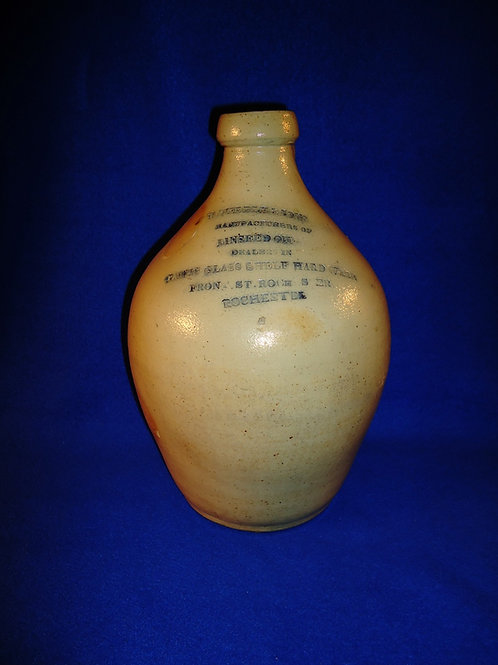 Weddle, Rochester, New York Stoneware Merchant Jug, Early Impressed Advertising