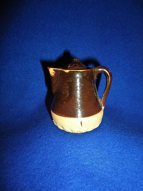 Circa 1900 Miniature Stoneware Toy Coffee Pot