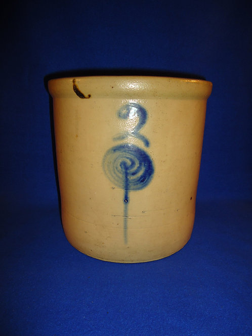 Red Wing 2 Gallon Salt Glaze Crock with Target Decoration #4603