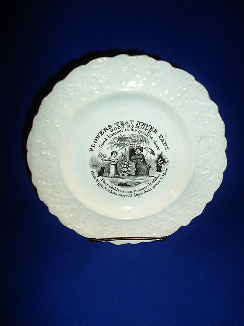 "Circa 1830 Staffordshire Child's Plate with ""Good Humour"" Moral #4577"