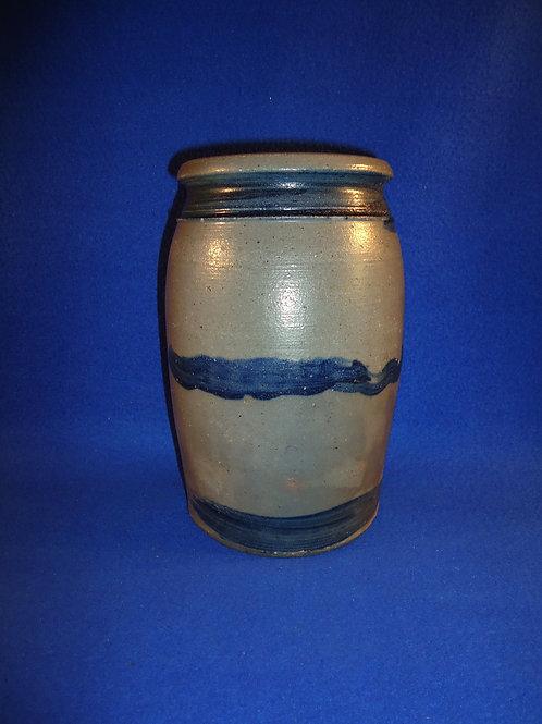 Circa 1870 Stoneware Jar, Stripes on Both Sides, Pennsylvania, #4835