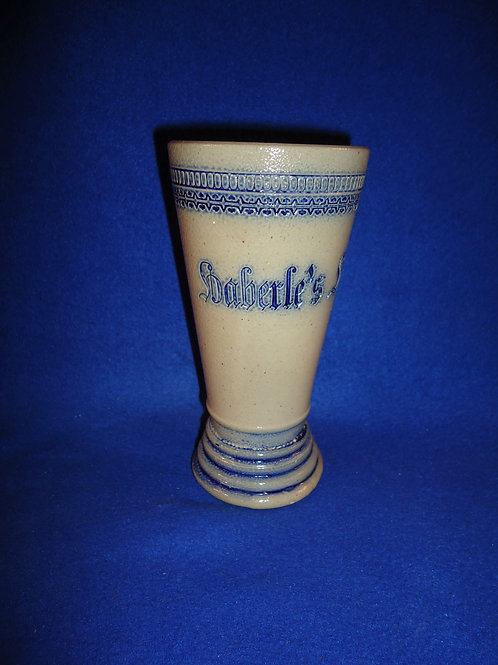 Haberle's Lager Glass by Whites Pottery of Utica, N.Y. #4755