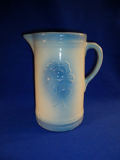 Blue and White Old Fashioned Garden Rose Pitcher