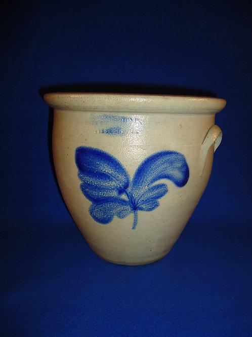 Evan Jones, Pittston, PA Stoneware 1 Gallon Cream Pot with Tulip #5063