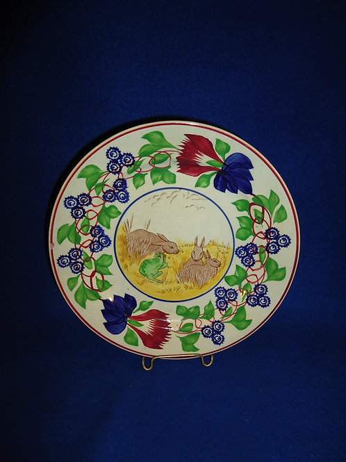 "Rabbitware Ironstone 9 1/4"" Plate with Stick Spatter & Transfer Decoration #5073"