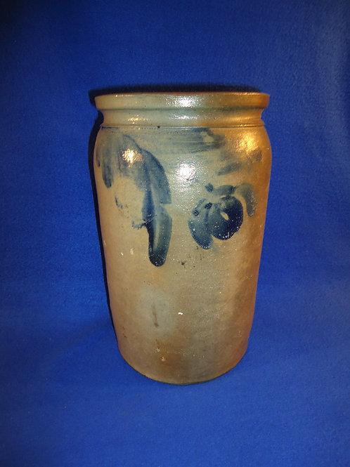 Circa 1870 Stoneware 1 1/2 Gallon Jar from Baltimore, Maryland