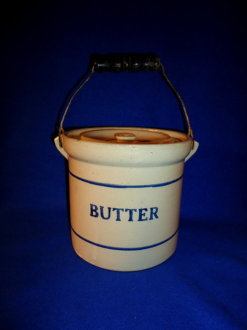 Red Wing Blue and White Stoneware 5 Pound Butter Crock