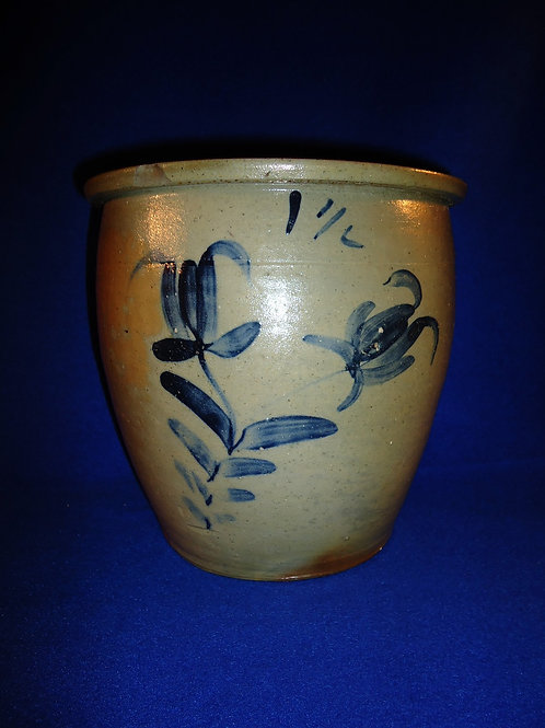 Stoneware Cream Pot with Tulips att. Moore, Nichols, Williamsport, Pennsylvania