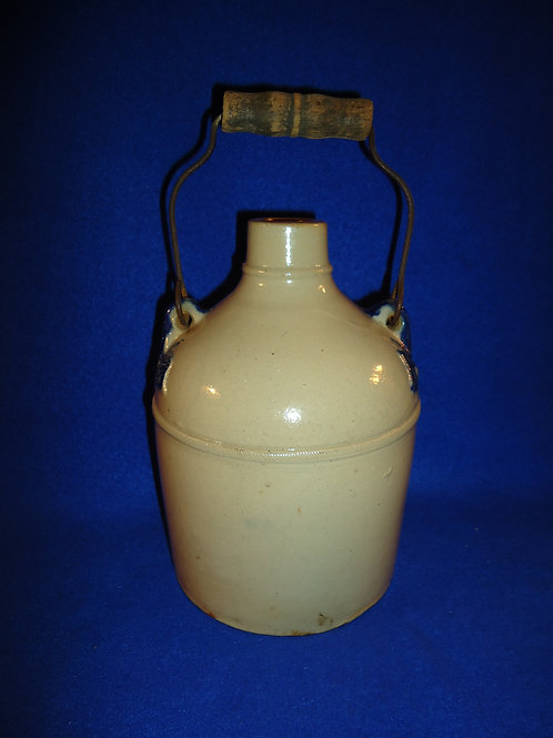 1/2 Gallon Stoneware Bail-Handled Jug by Whites of Utica, New York