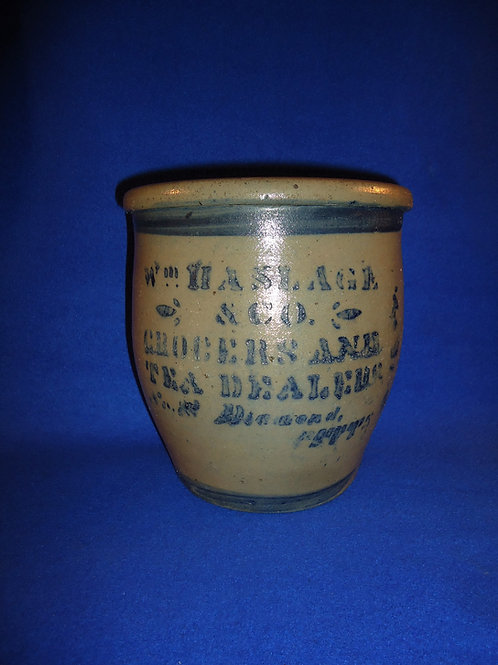 Wm. Haslage, Grocer and Tea Dealer, Pittsburgh, Pennsylvania Stoneware Cream Pot