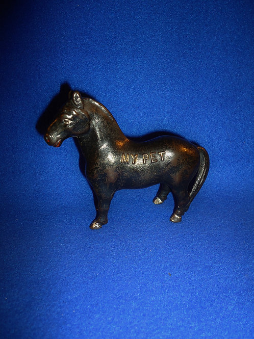 "Cast Iron Still Bank, ""My Pet"" Horse, James Harper of Chicago"
