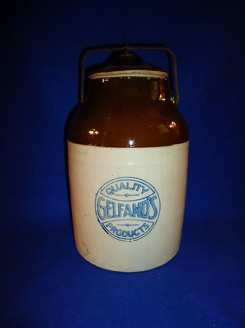 Gelfand, Baltimore, Maryland Mayonnaise Canner by Weir of Monmouth, Illinois