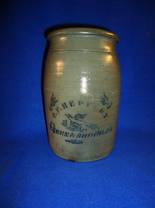 T. F. Reppert, Greensboro, Pennsylvania Stoneware 1 Gallon Jar with Bird