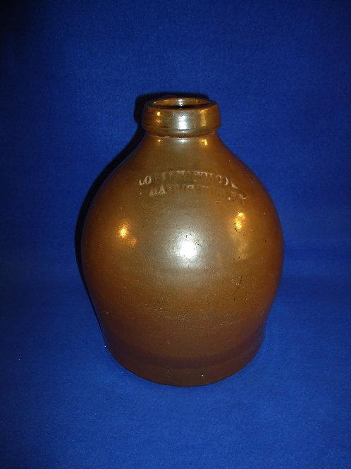 Cowden & Wilcox, Harrisburg, Pennsylvania Stoneware Oyster Jug #5211