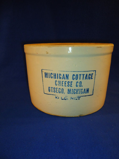 Michigan Cottage Cheese, Otsego, Michigan Stoneware Crock